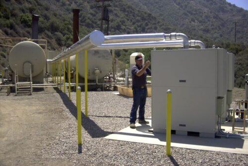 Wellhead gas